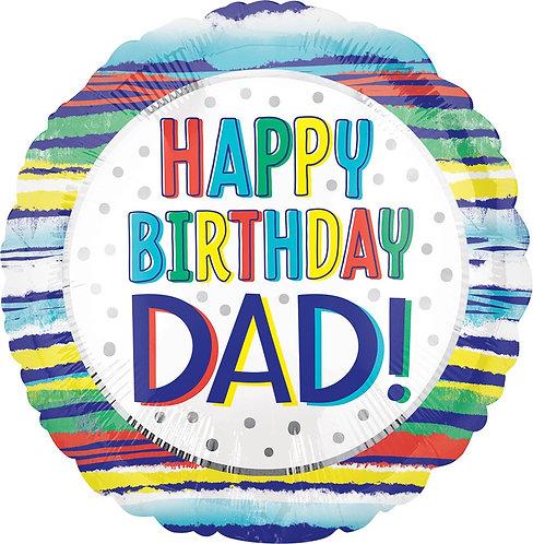 #348 Happy Birthday Dad 18in Balloon