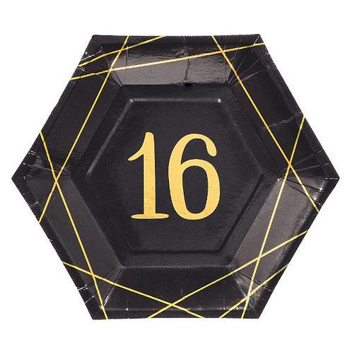 Elegant Sixteen 9in Plates 8ct