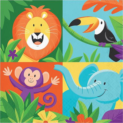 Jungle Safari Lunch Napkins 16ct