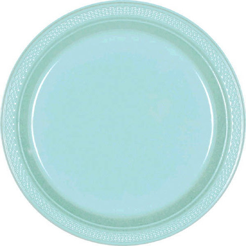 Robins Egg Blue 7in Plastic Plates 20ct
