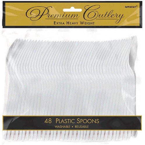 Clear Plastic Spoons 48ct