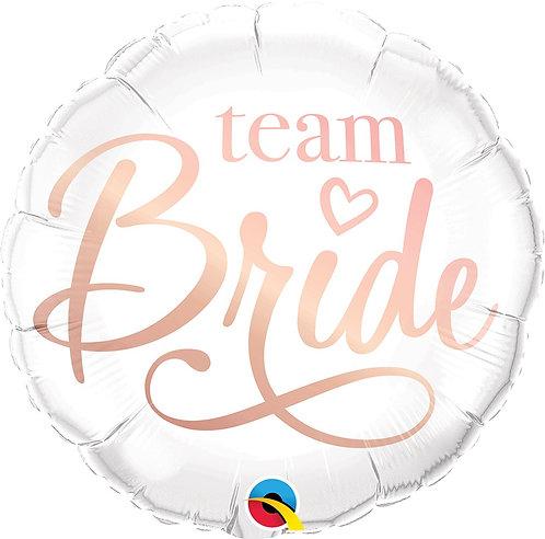 #569 Team Bride 18in Mylar Balloon