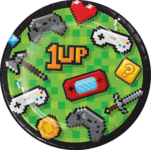 Gaming Party Dessert Plates 8ct