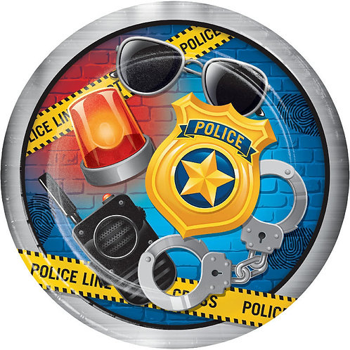 Police Party Lunch Plates 8ct