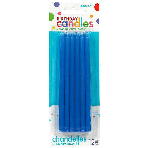 Blue 5in Taper Candles 12ct
