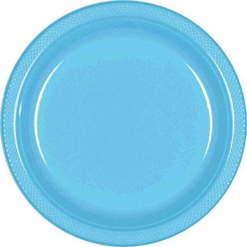 Caribbean Blue 7in Plastic Plates 20ct
