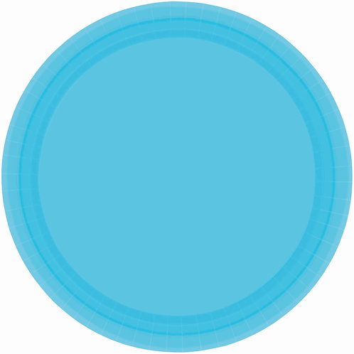 Caribbean Blue 7in Paper Plates 20ct