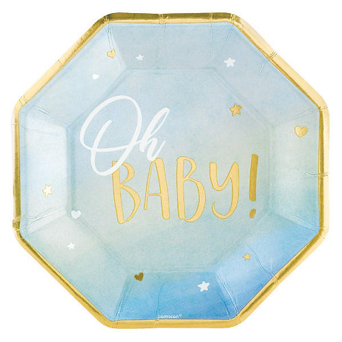 Oh Baby Boy Dinner Plates 8ct