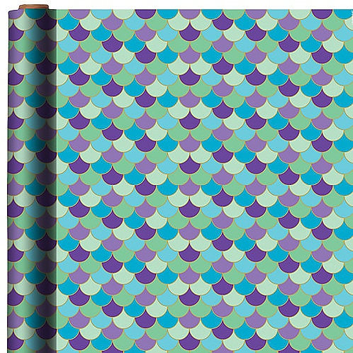Scalloped Mermaid Gift Wrap 5ft x 30in