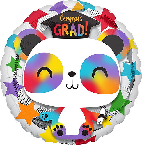 Grad Panda 17in Mylar Balloon