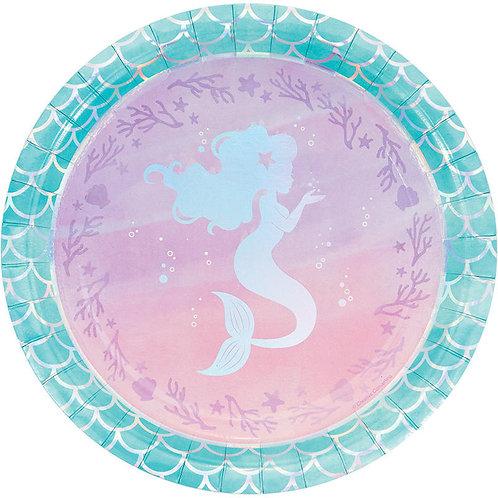 Mermaid Shine Lunch Plates 8ct