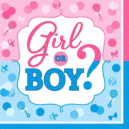 Girl or Boy? Lunch Napkins 16ct