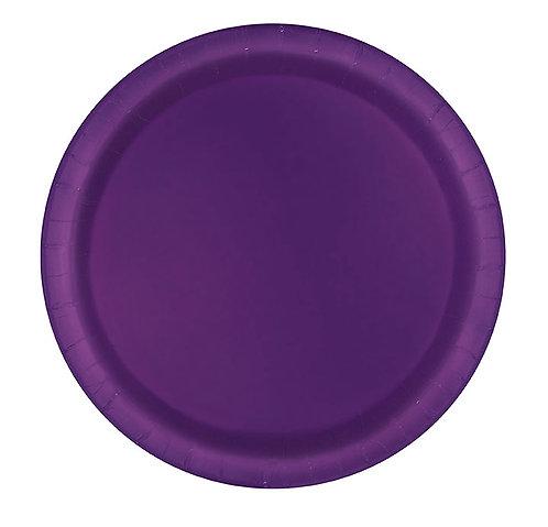 "Purple Round 9"" Dinner Plates 16ct"