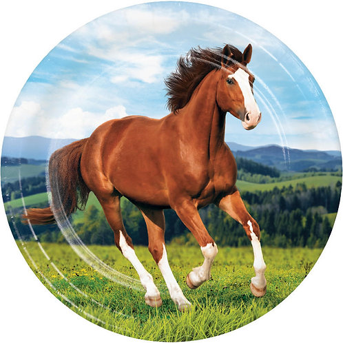 Horse and Pony Lunch Plates 8ct