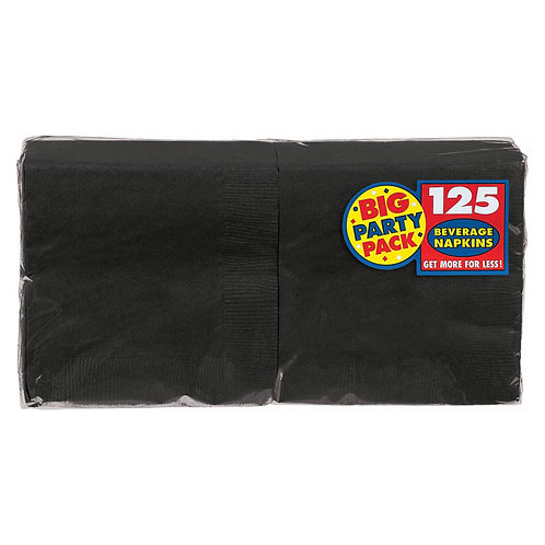 Black Beverage Napkins 125ct
