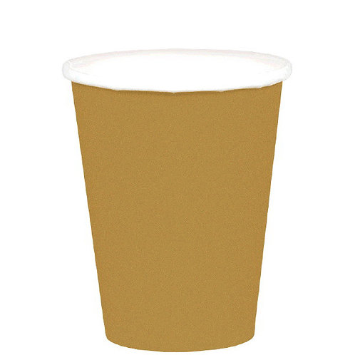 Gold 9oz Paper Cups 20ct