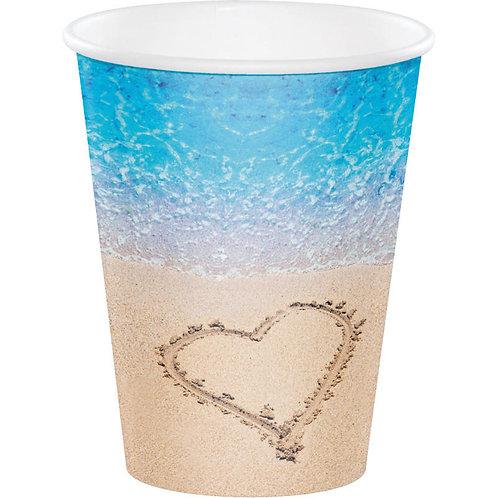 Beach Love Paper Cups 8ct