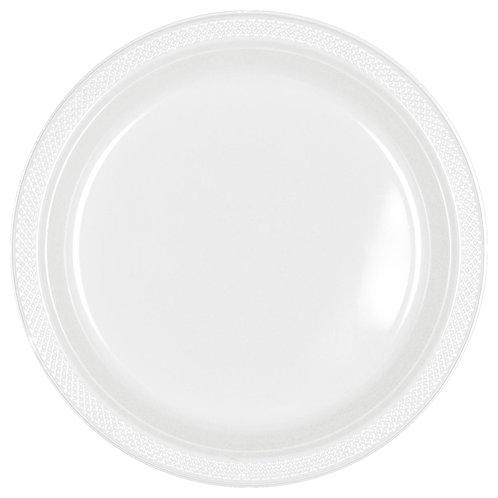 White 9in Plastic Plates 20ct