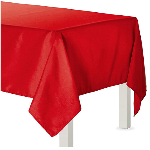 Red Fabric Tablecloth