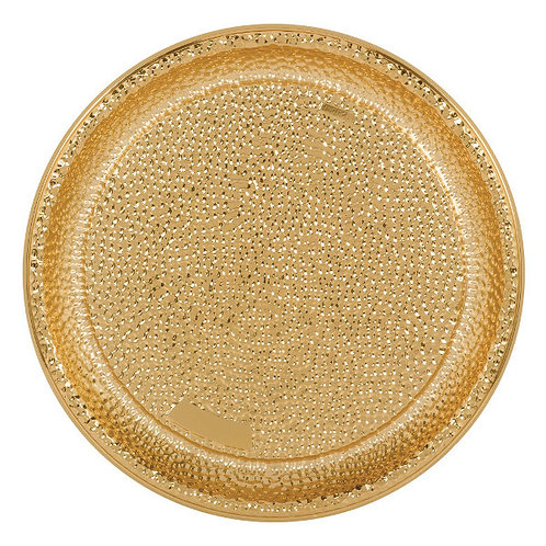 Hammered Gold 16in Plastic Tray
