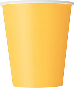 Yellow 9oz Paper Cups 14ct