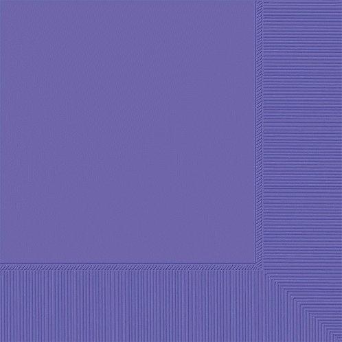 Purple Beverage Napkins 50ct