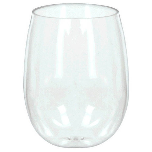 Premium Plastic Stemless Wine Glasses 8ct
