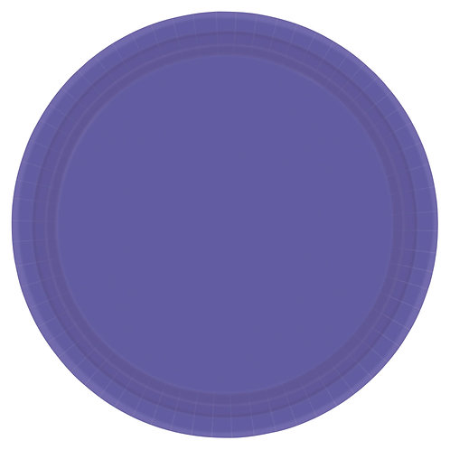 Purple 10in Paper Plates 20ct