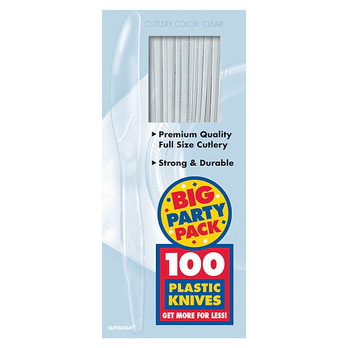 Clear Value Plastic Knives 100ct