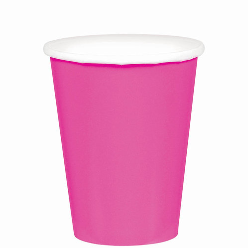 Bright Pink 9oz Paper Cups 20ct