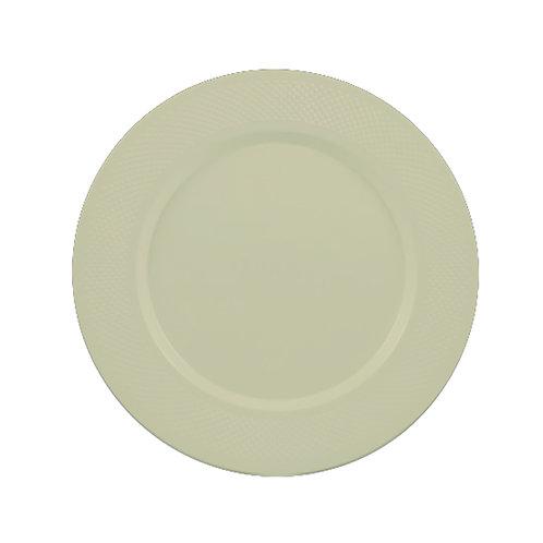 Concord Beige 10in Plastic Plates 15ct