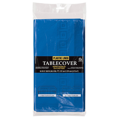 """Royal Blue Paper Table Cover 54"""" x 108"""""""