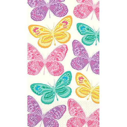 Spring Butterflies Guest Towel 16ct