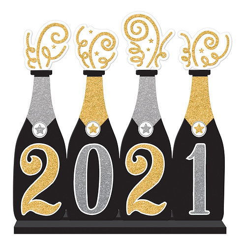 2021 Bubbly Bottle Large Standing Sign