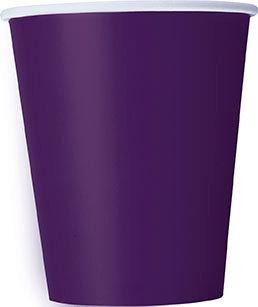Purple 9oz Paper Cups 14ct
