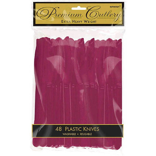 Berry Plastic Knives 48ct