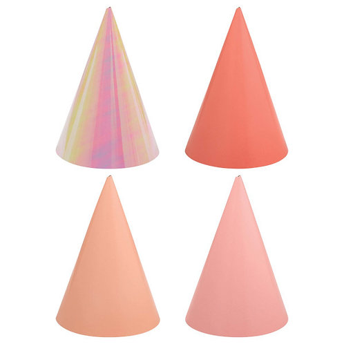 Birthday Accessories Pink Cone Hats 12ct