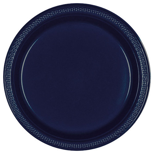 Navy Blue 9in Plastic Plates 20ct