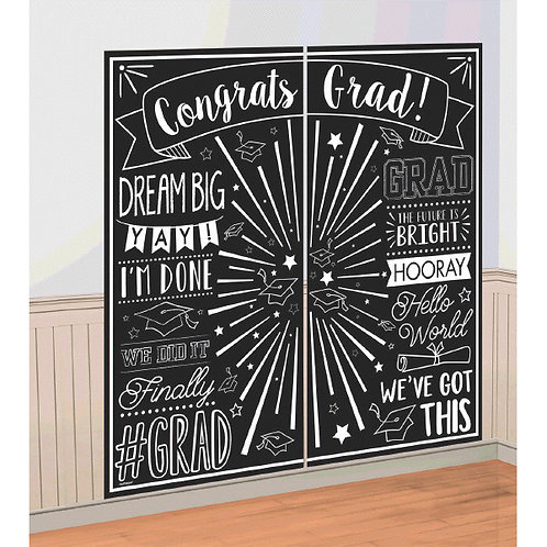 Grad Selfie Scene Setters® Wall Decorating Kit