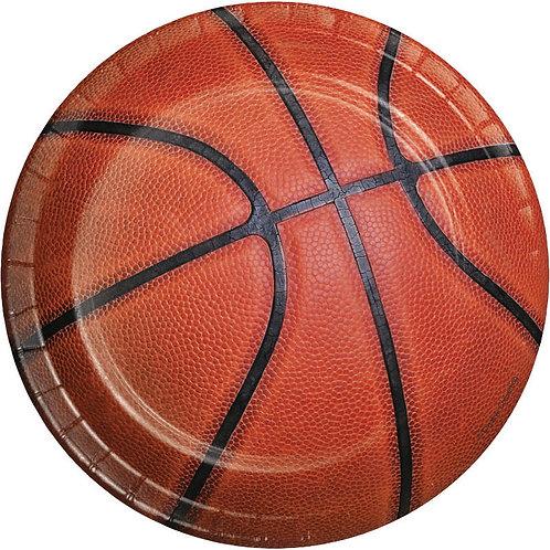 Basketball Dessert Plates 8ct