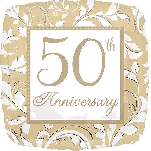 #535 50th Anniversary 18in Mylar Balloon