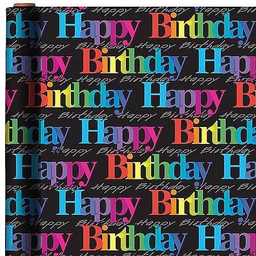 Rainbow Birthday Jumbo Gift Wrap 16ft x 30in