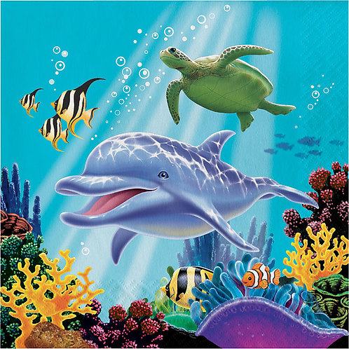 Ocean Party Lunch Napkins 16ct