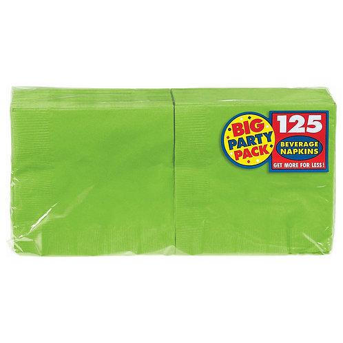 Kiwi Green Beverage Napkins 125ct