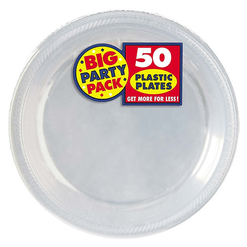 Clear 10in Plastic Plates 50ct