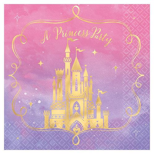 Disney Princess Lunch Napkins 16ct - Hot-Stamped