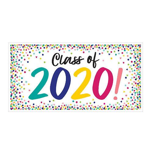 Yay Grad 2020 Large Horizontal Banner