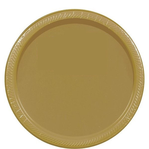 Gold 7in Paper Plates 20ct