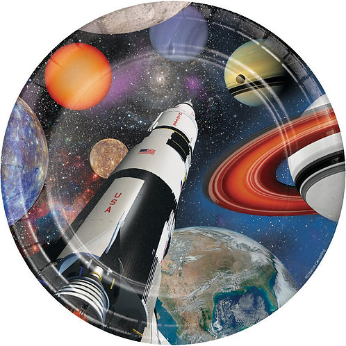 Space Blast Lunch Plates 8ct