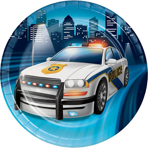 Police Party Dessert Plates 8ct